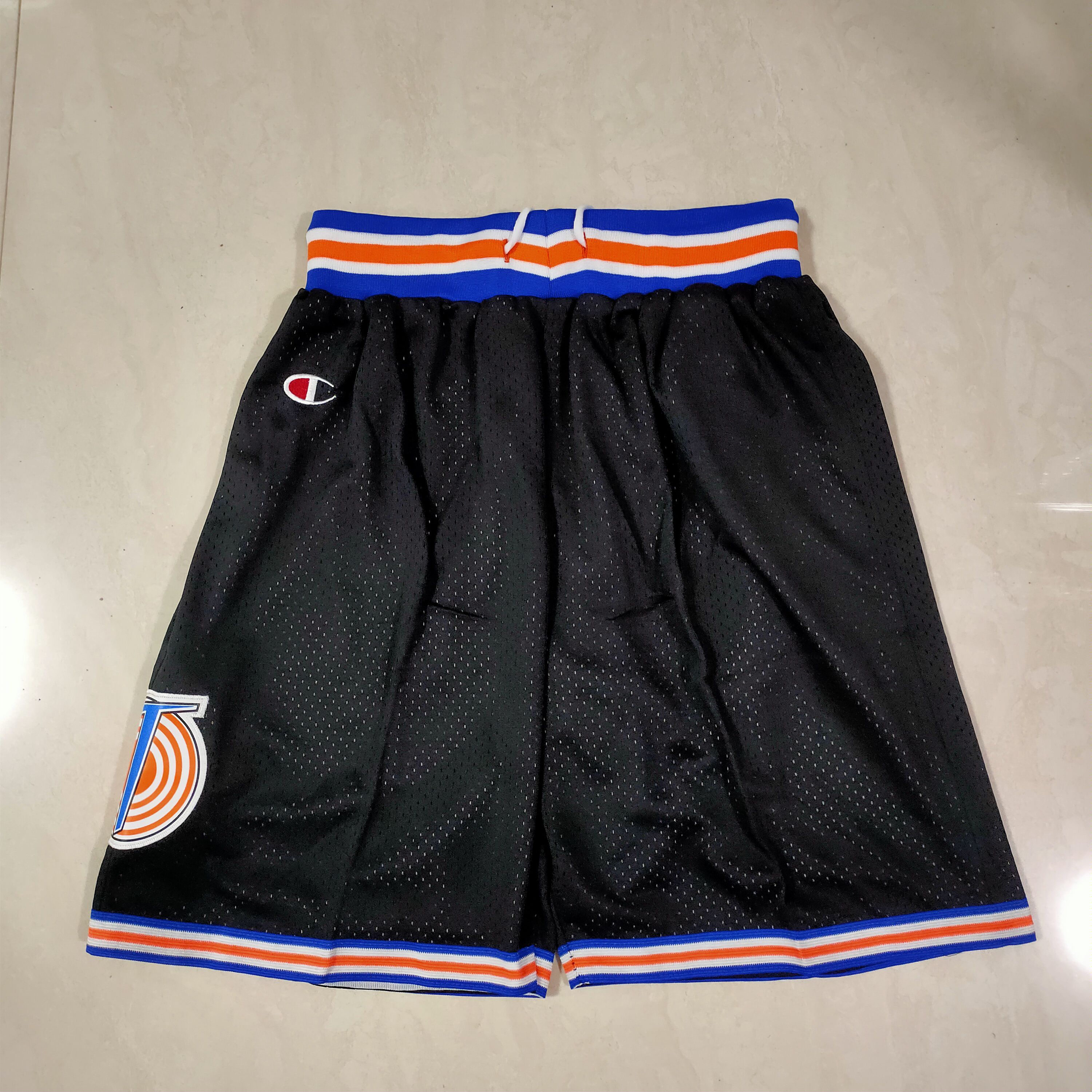 Cheap Men NBA Big wolf irrigation Black Shorts 0416