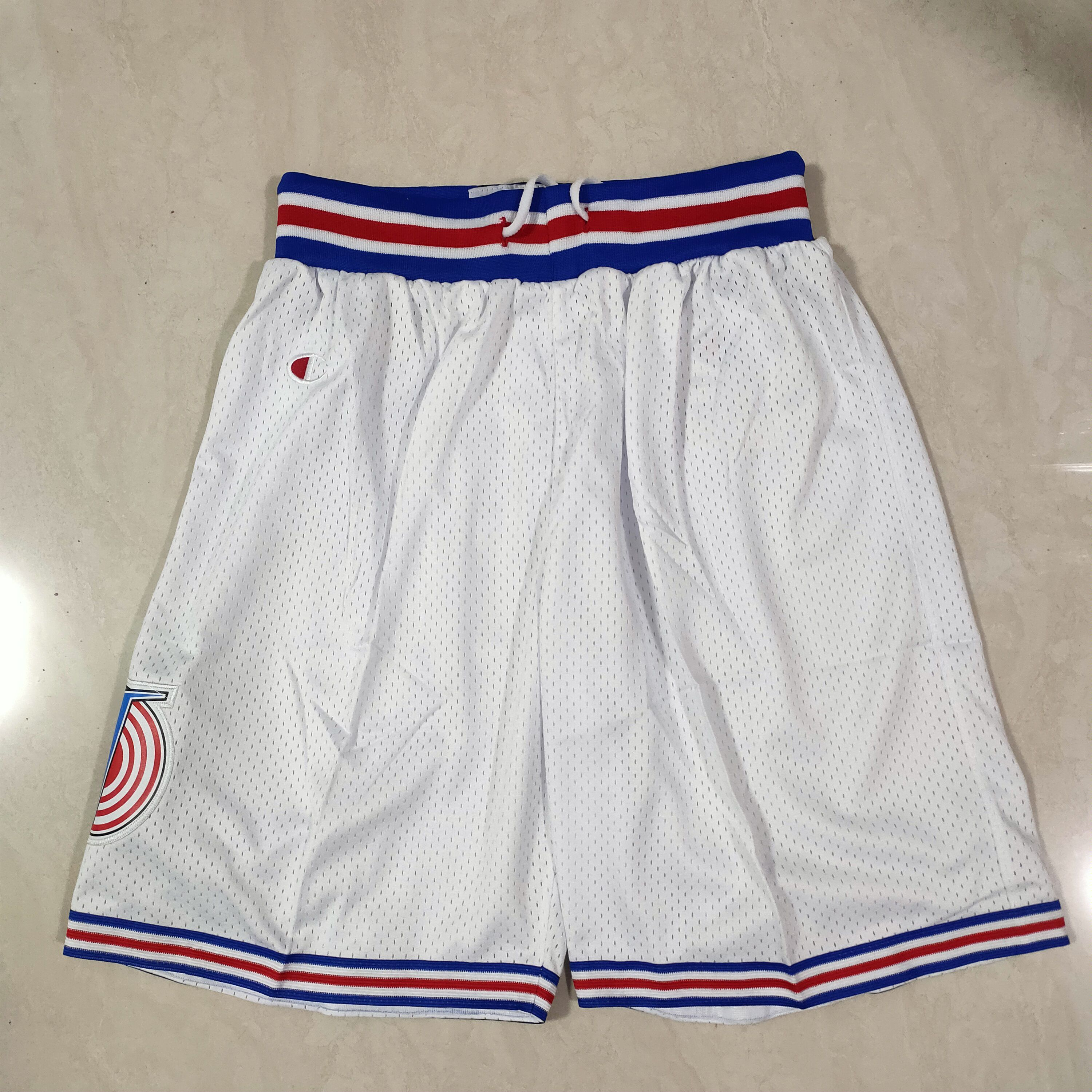 Cheap Men NBA Big wolf irrigation White Shorts 0416