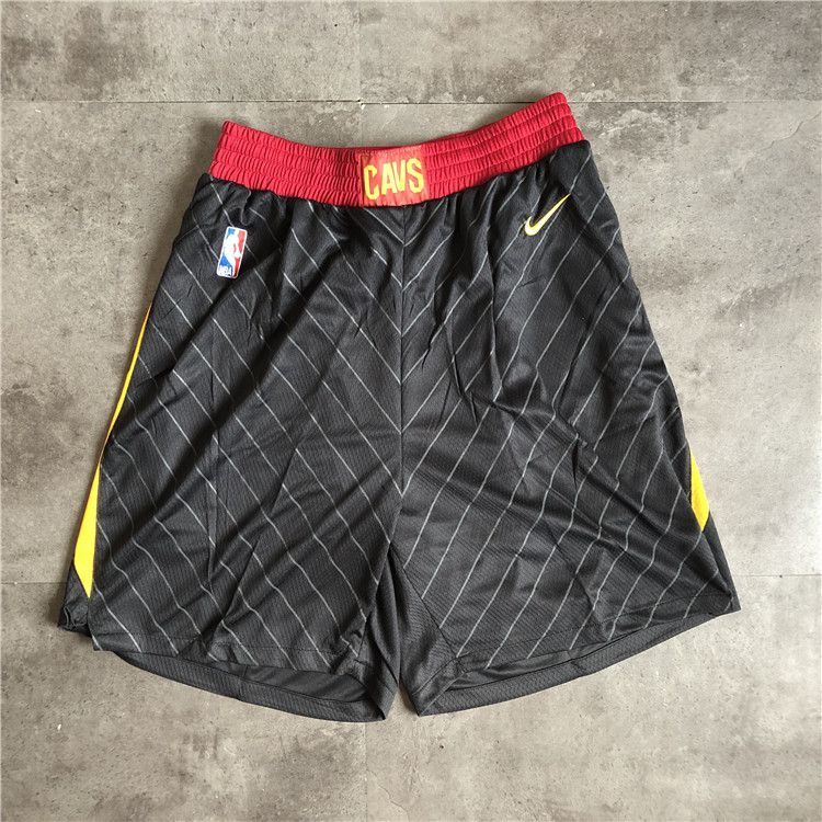 Cheap Men NBA Cleveland Cavaliers Black Nike Shorts 0416