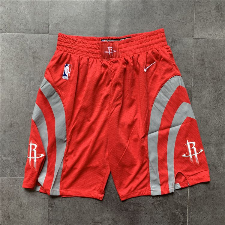 Cheap Men NBA Houston Rockets Red Nike Shorts 0416