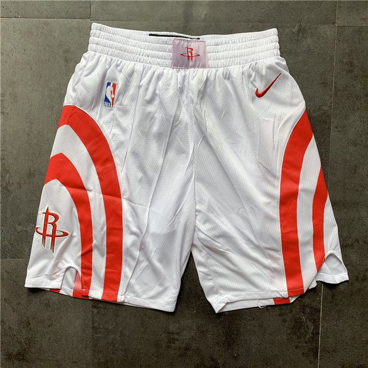 Cheap Men NBA Houston Rockets White Nike Shorts 0416