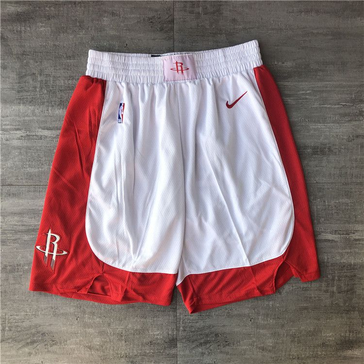 Cheap Men NBA Houston Rockets White Shorts 04161