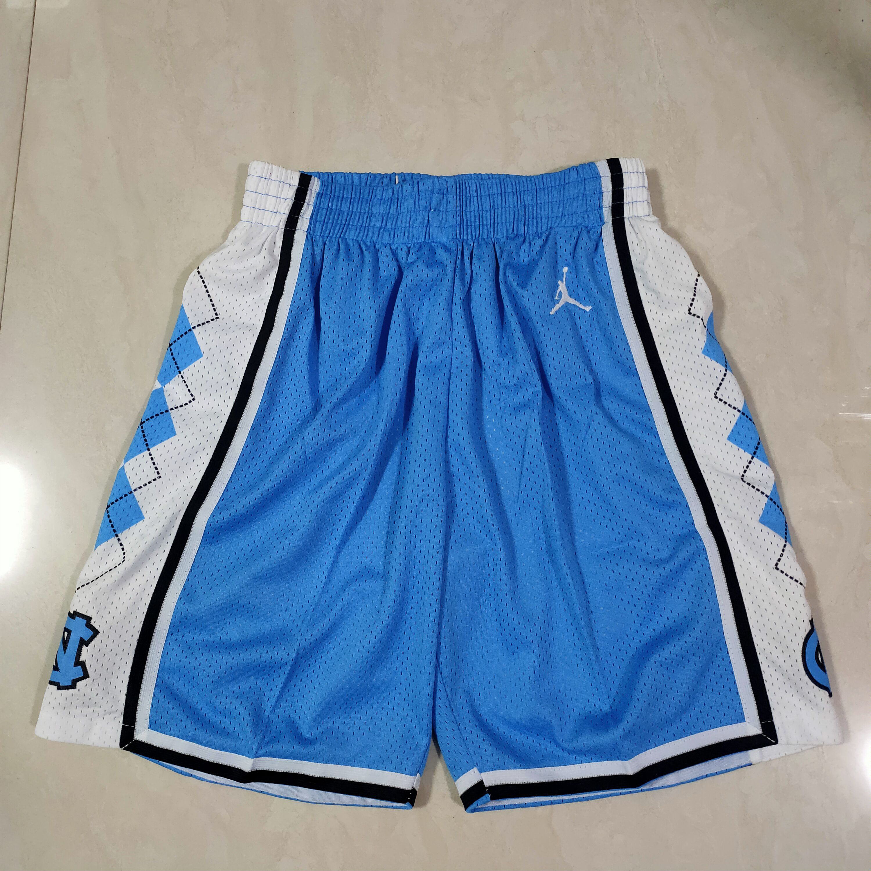 Cheap Men NBA North Carolina Blue Shorts 0416