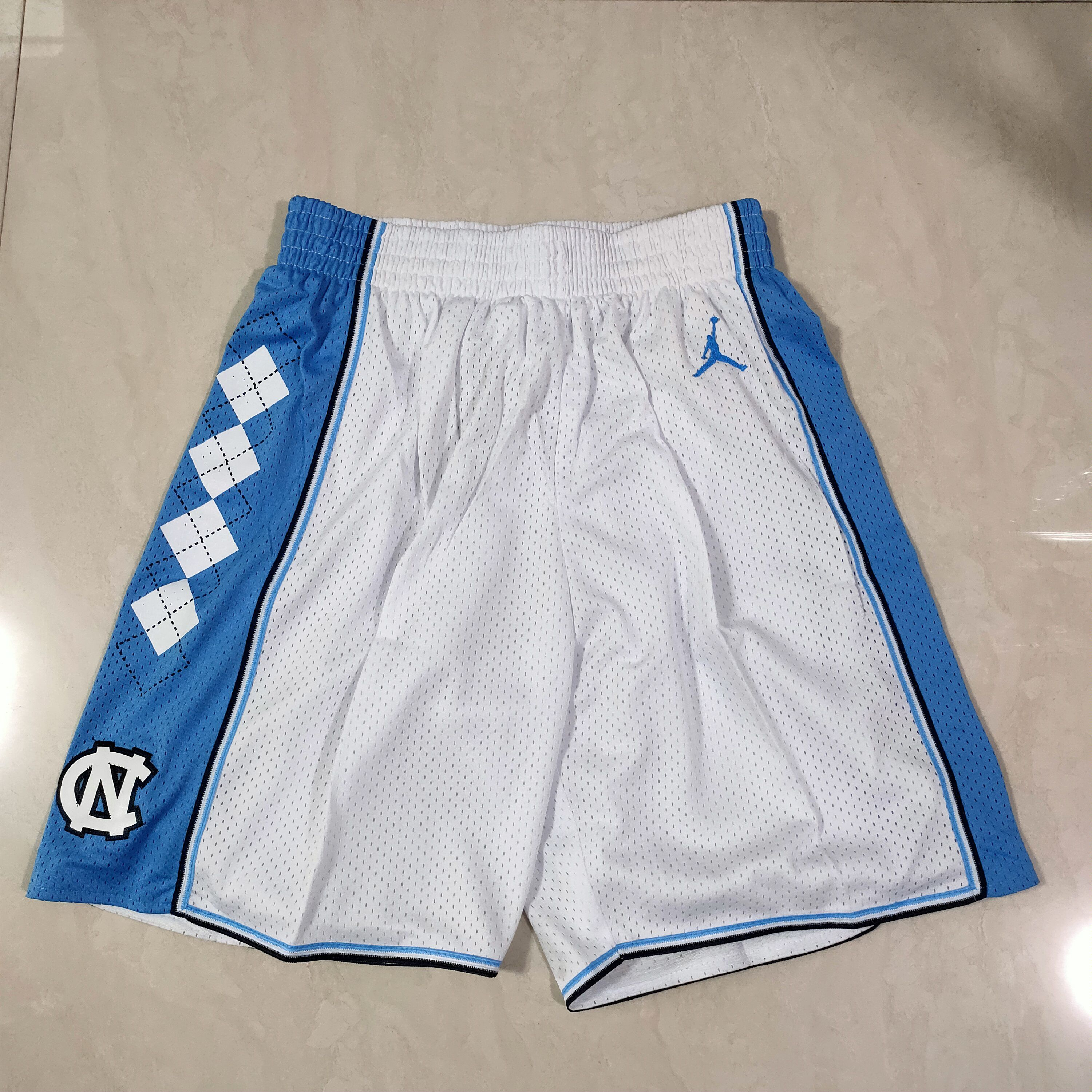Cheap Men NBA North Carolina White Shorts 0416