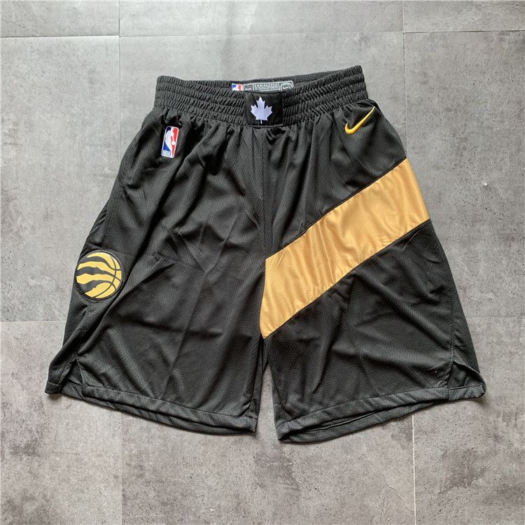 Cheap Men NBA Toronto Raptors Black Nike Shorts 0416