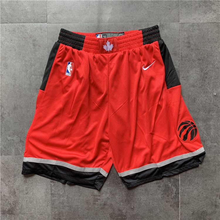Cheap Men NBA Toronto Raptors Red Nike Shorts 04161