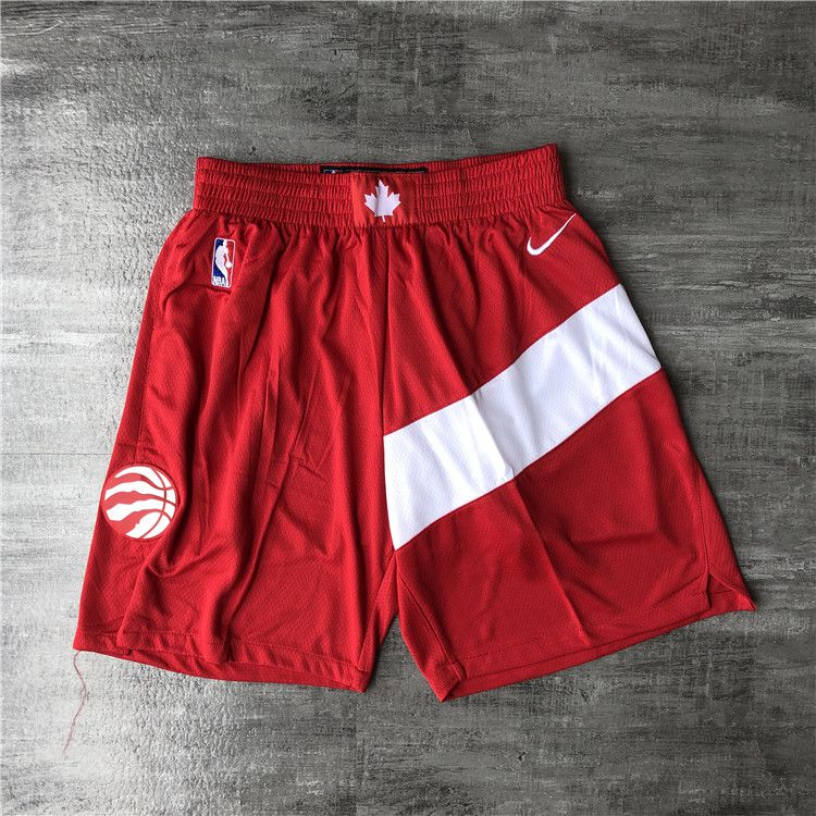 Cheap Men NBA Toronto Raptors Red Shorts 0416