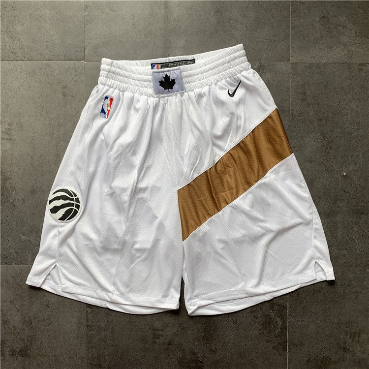 Cheap Men NBA Toronto Raptors White Nike Shorts 0416