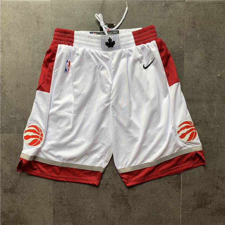 Cheap Men NBA Toronto Raptors White Nike Shorts 04161