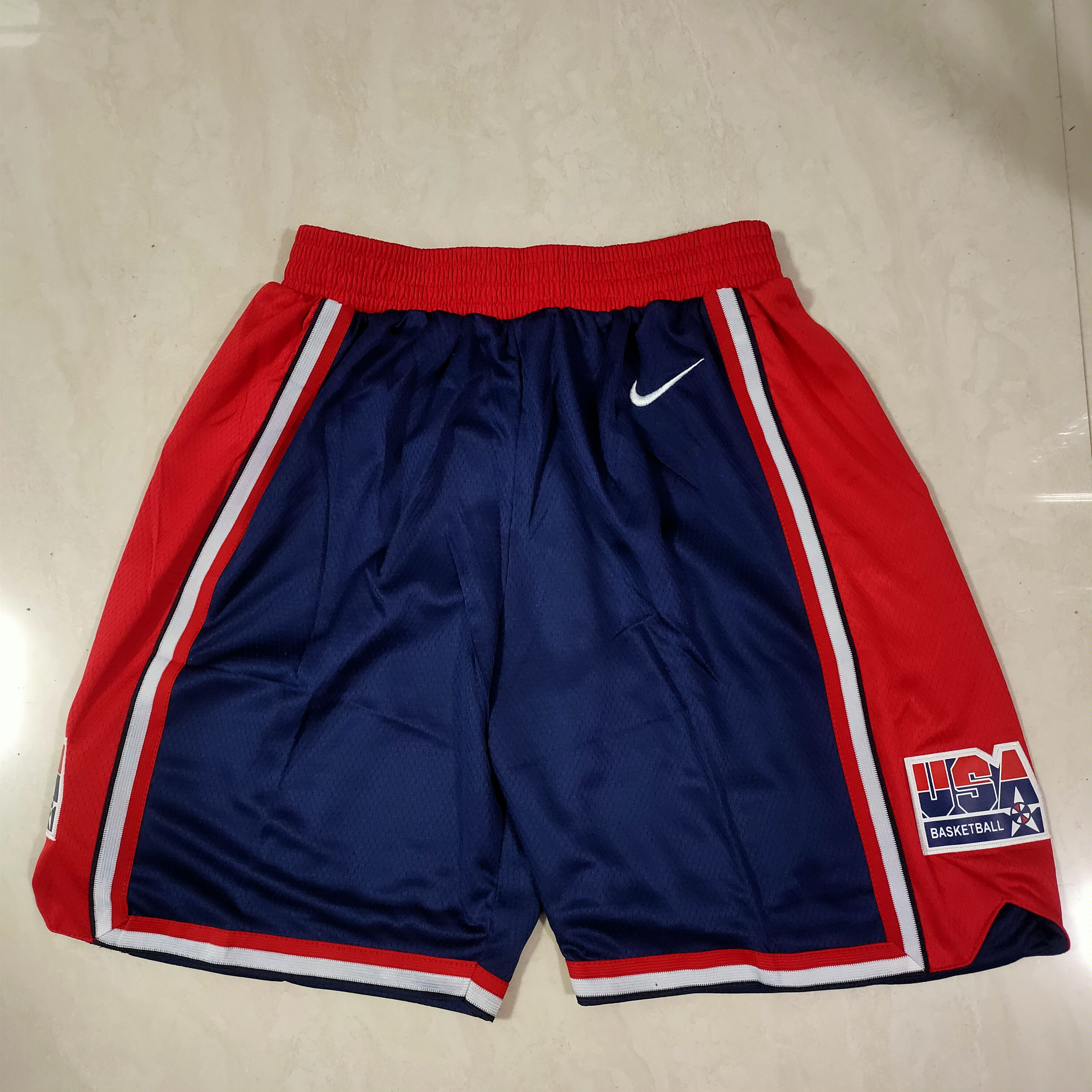 Cheap Men NBA USA Blue Shorts 0416