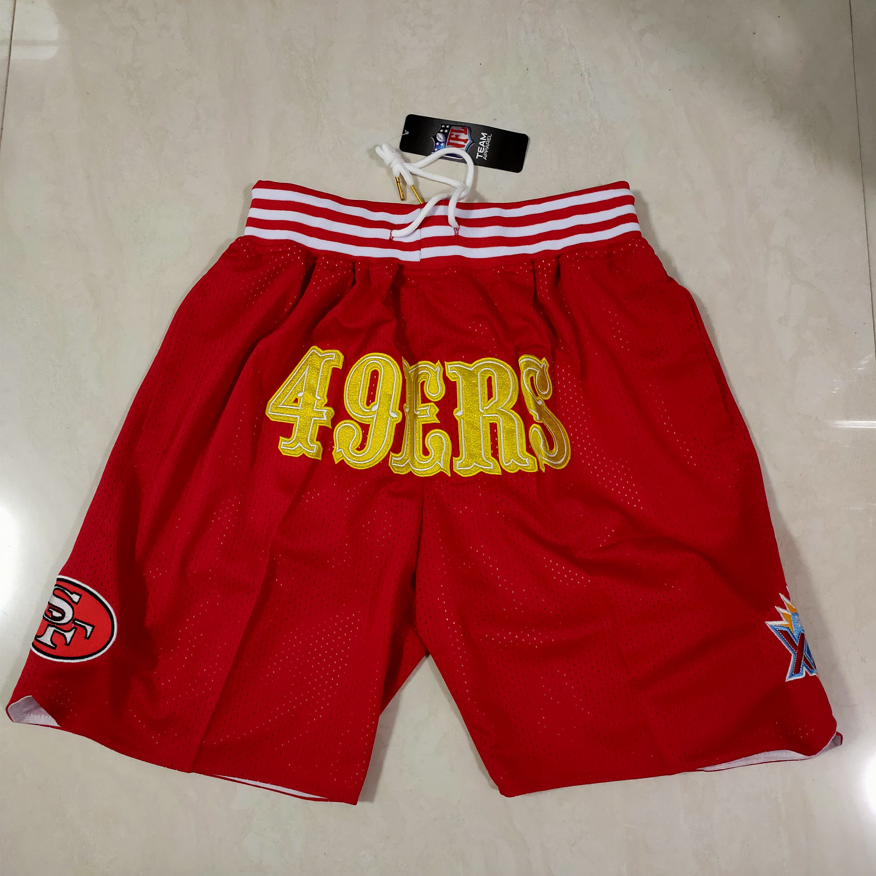 Cheap Men NFL 2021 San Francisco 49ers Red Shorts