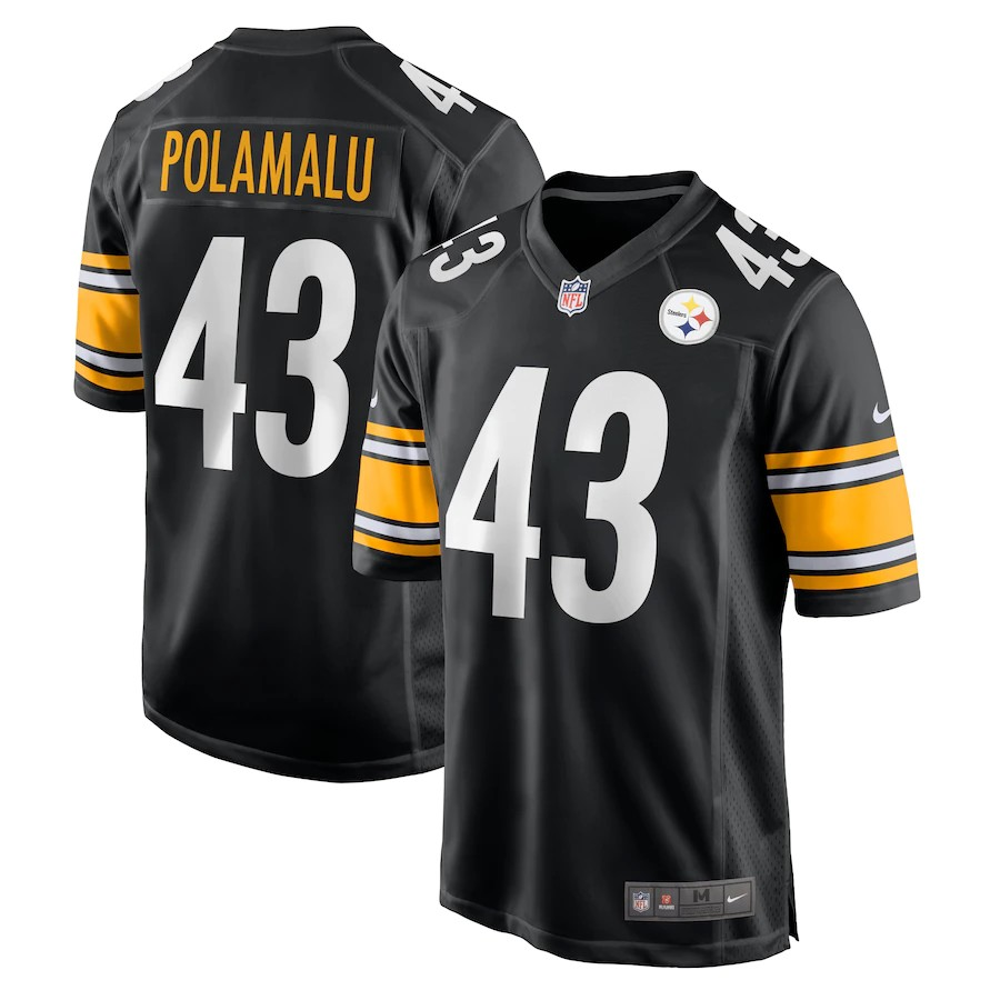 Wholesale Men Pittsburgh Steelers 43 Polamalu Black Nike Vapor Untouchable Limited 2020 NFL Nike Jerseys style 2