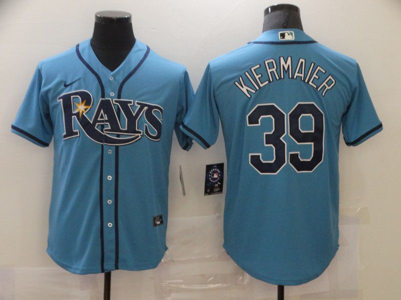 Cheap Men Tampa Bay Rays 39 Kiermaier Light blue Game Nike MLB Jerseys