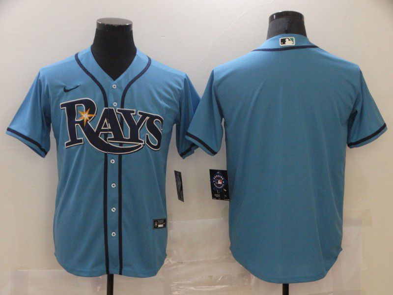 Cheap Men Tampa Bay Rays Blank Light blue Game 2021 Nike MLB Jersey