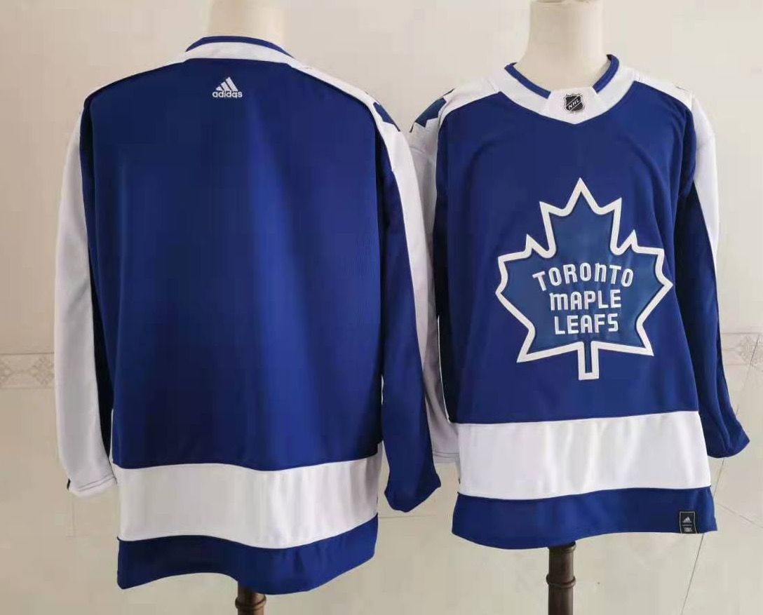 Cheap Men Toronto Maple Leafs Blank Blue Authentic Stitched 2021 Adidias NHL Jersey