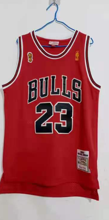 Cheap 2020 Men Chicago Bulls 23 Jordan red Mitchell Ness Stitched NBA Jersey