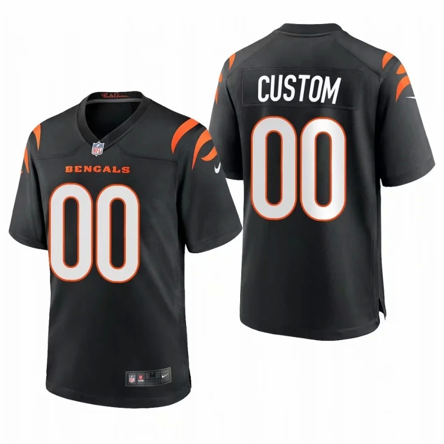 Cheap Custom Men Cincinnati Bengals Black Nike Limited 2021 New NFL Nike Jerseys