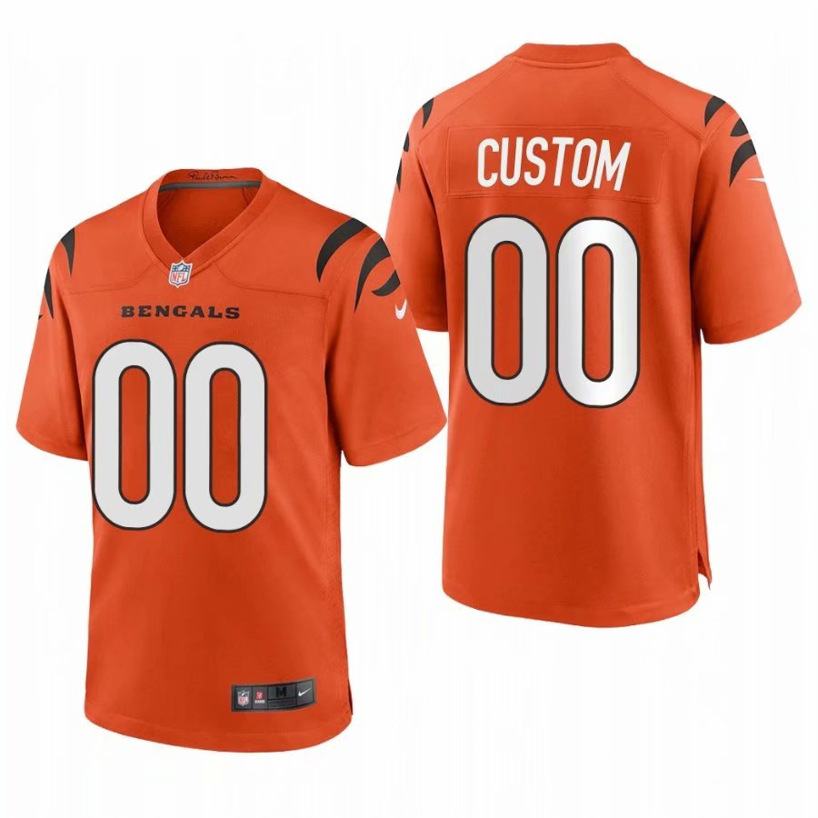 Cheap Custom Men Cincinnati Bengals Orange Nike Limited 2021 New NFL Nike Jerseys