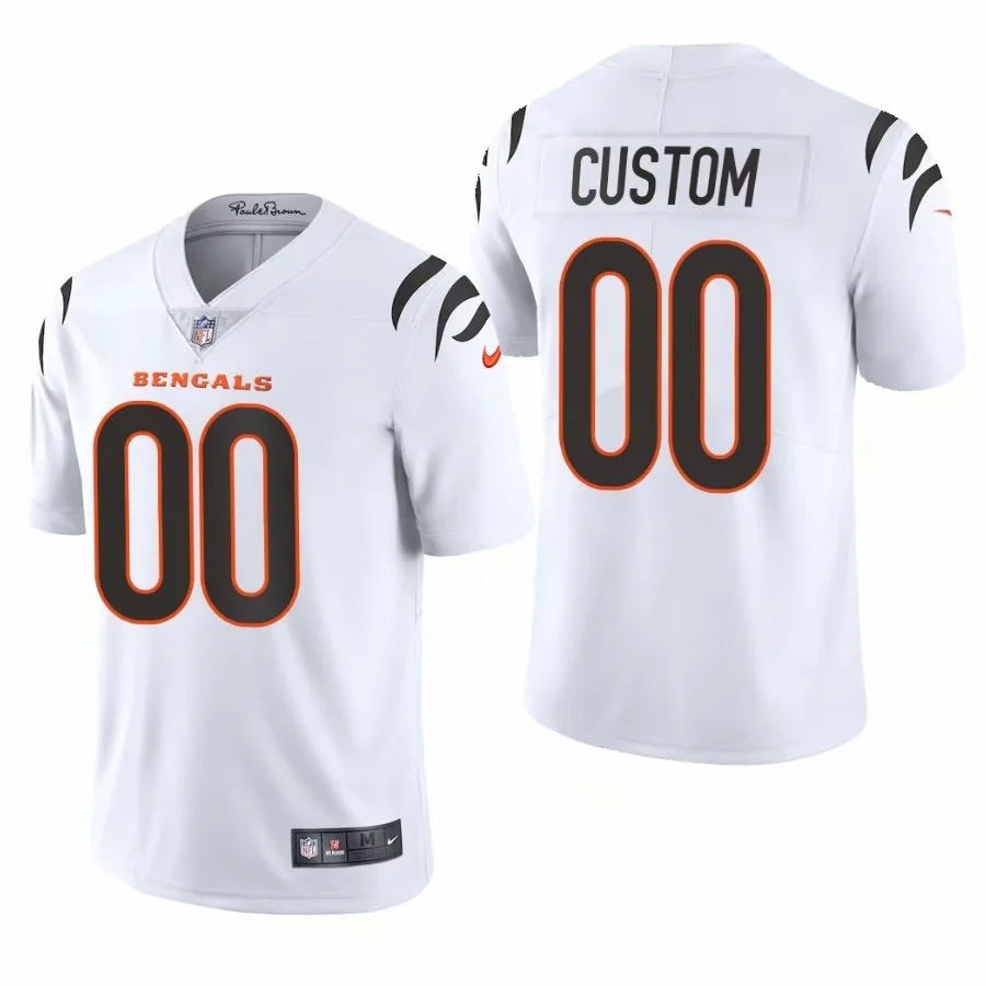 Cheap Custom Men Cincinnati Bengals White Nike Limited 2021 New NFL Nike Jerseys