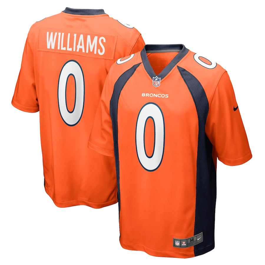 Wholesale Custom Mens Denver Broncos 0 Javonte Williams Nike Orange 2021 NFL Draft Pick Player Game Jersey
