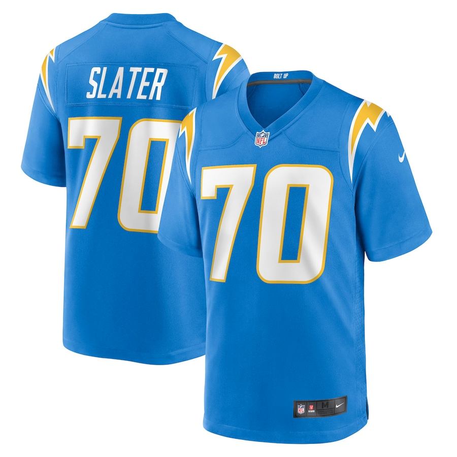 Wholesale Custom Mens Los Angeles Chargers 70 Rashawn Slater Nike Powder Blue 2021 NFL Draft First Round Pick Game Jersey