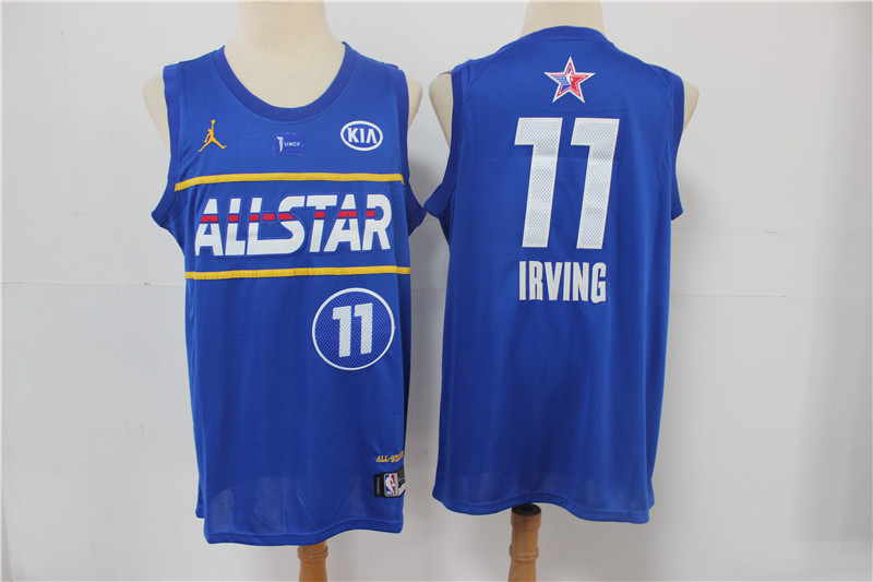 Cheap Men Boston Celtics 11 Irving blue 2021 NBA All Star jerseys