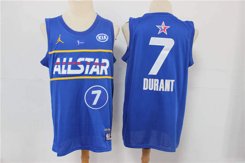 Cheap Men Brooklyn Nets 7 Durant blue 2021 NBA All Star jerseys