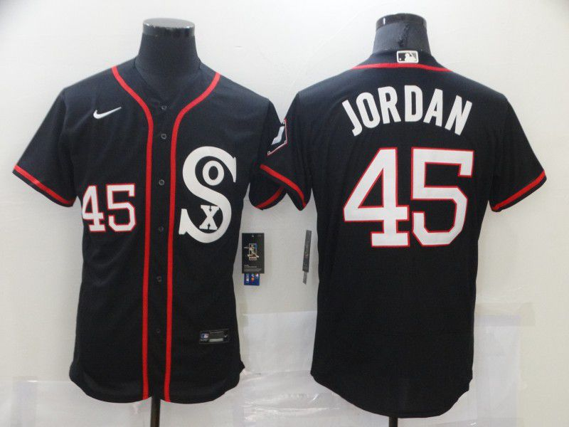 Cheap Men Chicago White Sox 45 Jordan Black Elite 2021 Nike MLB Jersey