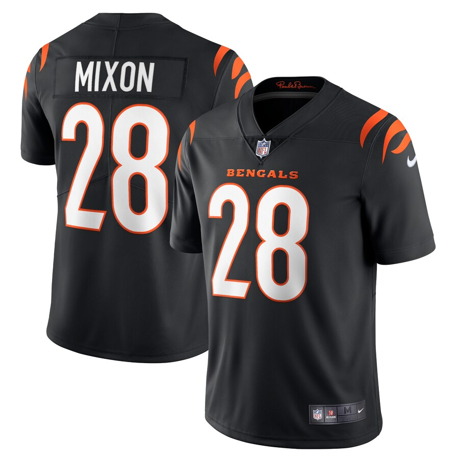 Cheap Men Cincinnati Bengals 28 Joe Mixon Nike Black Vapor Limited NFL Jersey
