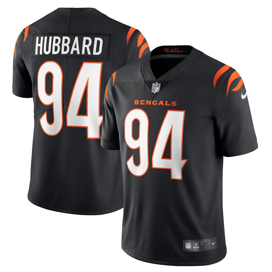 Cheap Men Cincinnati Bengals 94 Sam Hubbard Nike Black Vapor Limited NFL Jersey