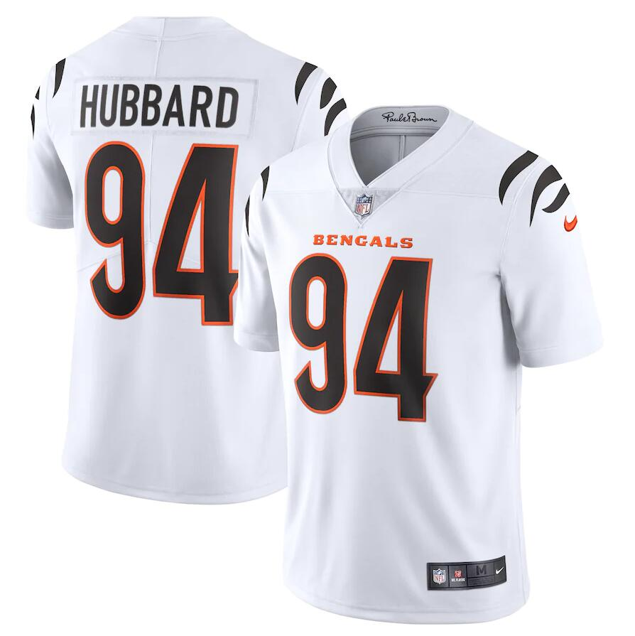 Cheap Men Cincinnati Bengals 94 Sam Hubbard Nike White Vapor Limited NFL Jersey