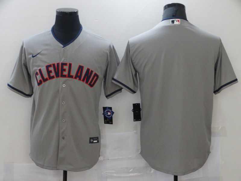 Cheap Men Cleveland Indians Blank Grey Game 2021 Nike MLB Jersey