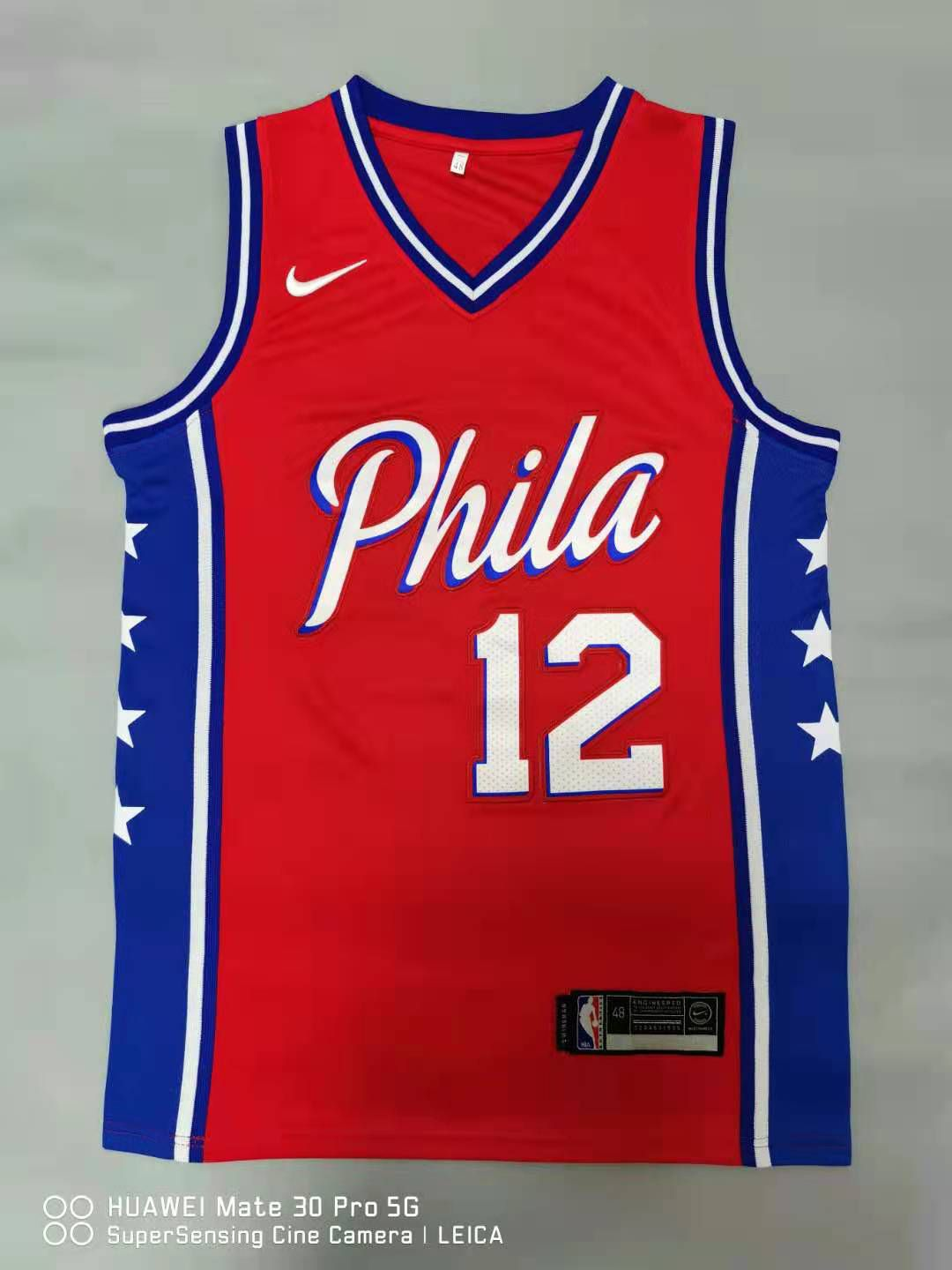 Cheap Men Philadelphia 76ers 12 Harris Red 2021 Nike Game NBA Jersey