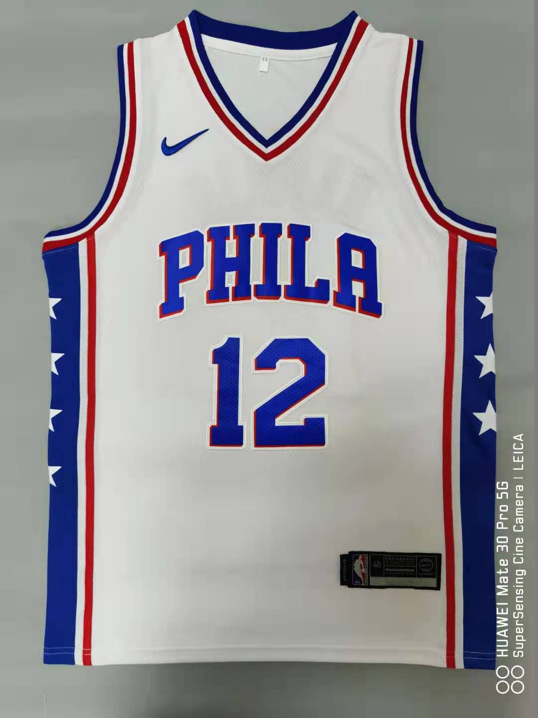Cheap Men Philadelphia 76ers 12 Harris White 2021 Nike Game NBA Jersey