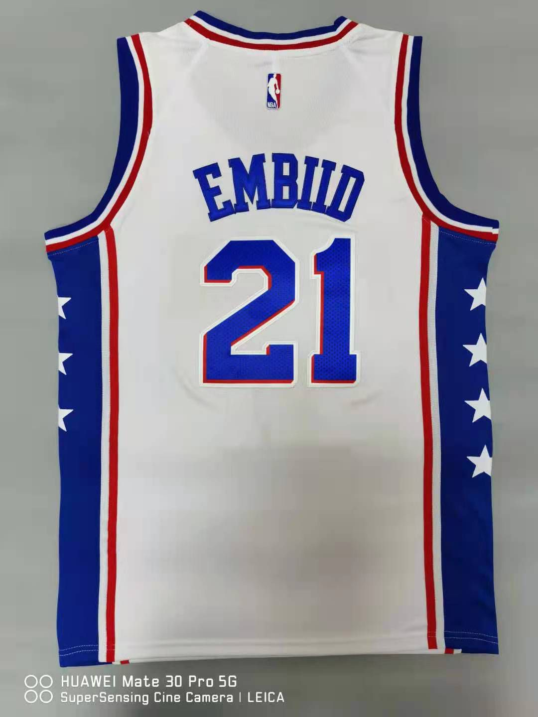 Cheap Men Philadelphia 76ers 21 Embiid White 2021 Nike Game NBA Jersey