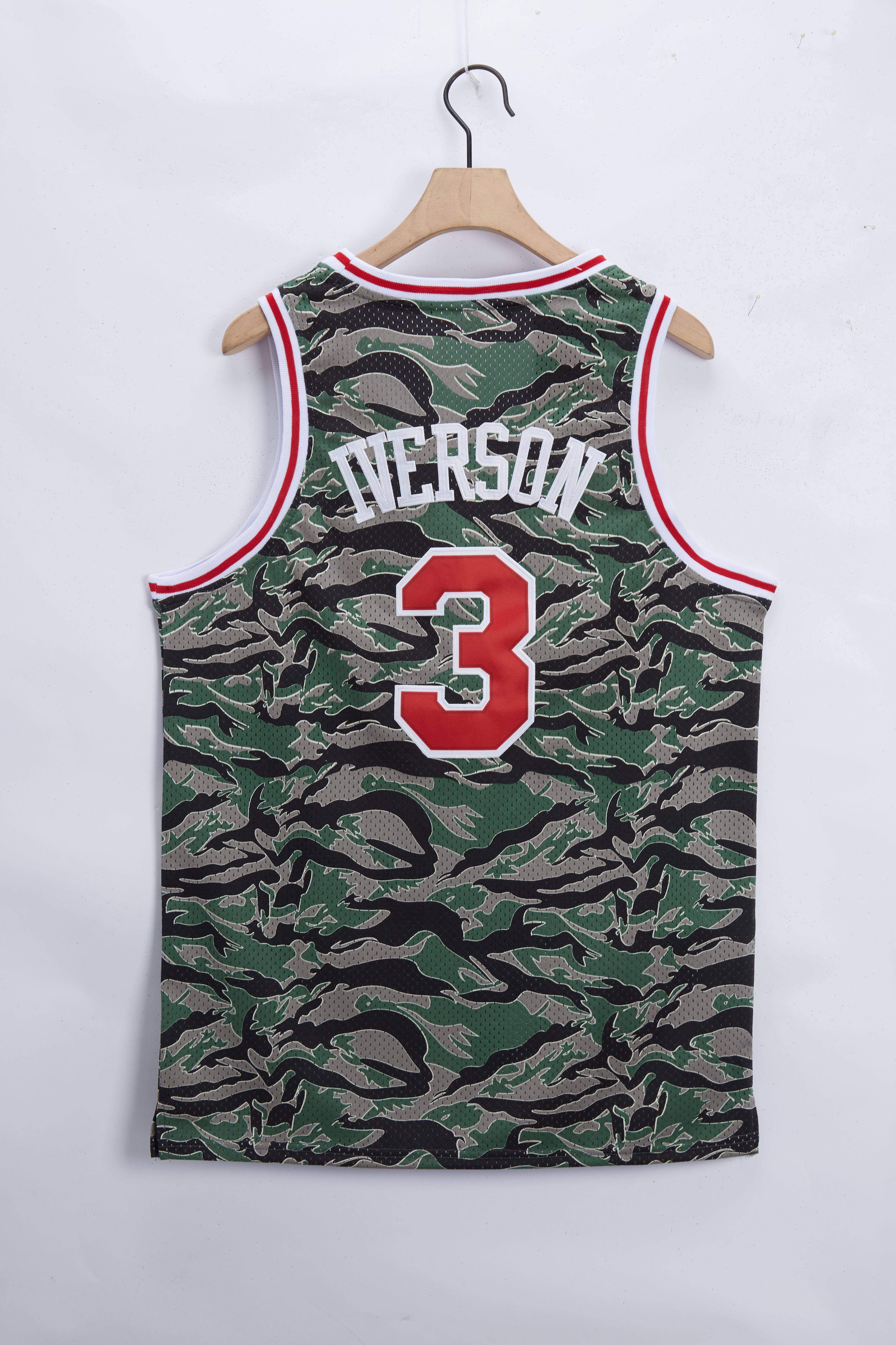Cheap Men Philadelphia 76ers 3 Iverson Camo 2021 Game NBA Jersey