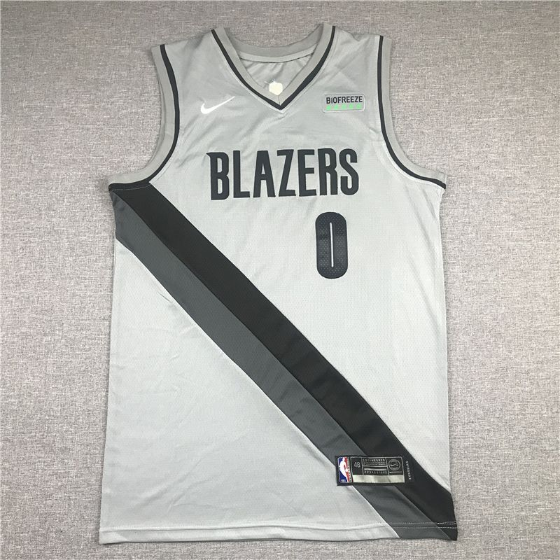 Cheap Men Portland Trail Blazers 3 Mccollum Grey 2021 Nike Game NBA Jerseys