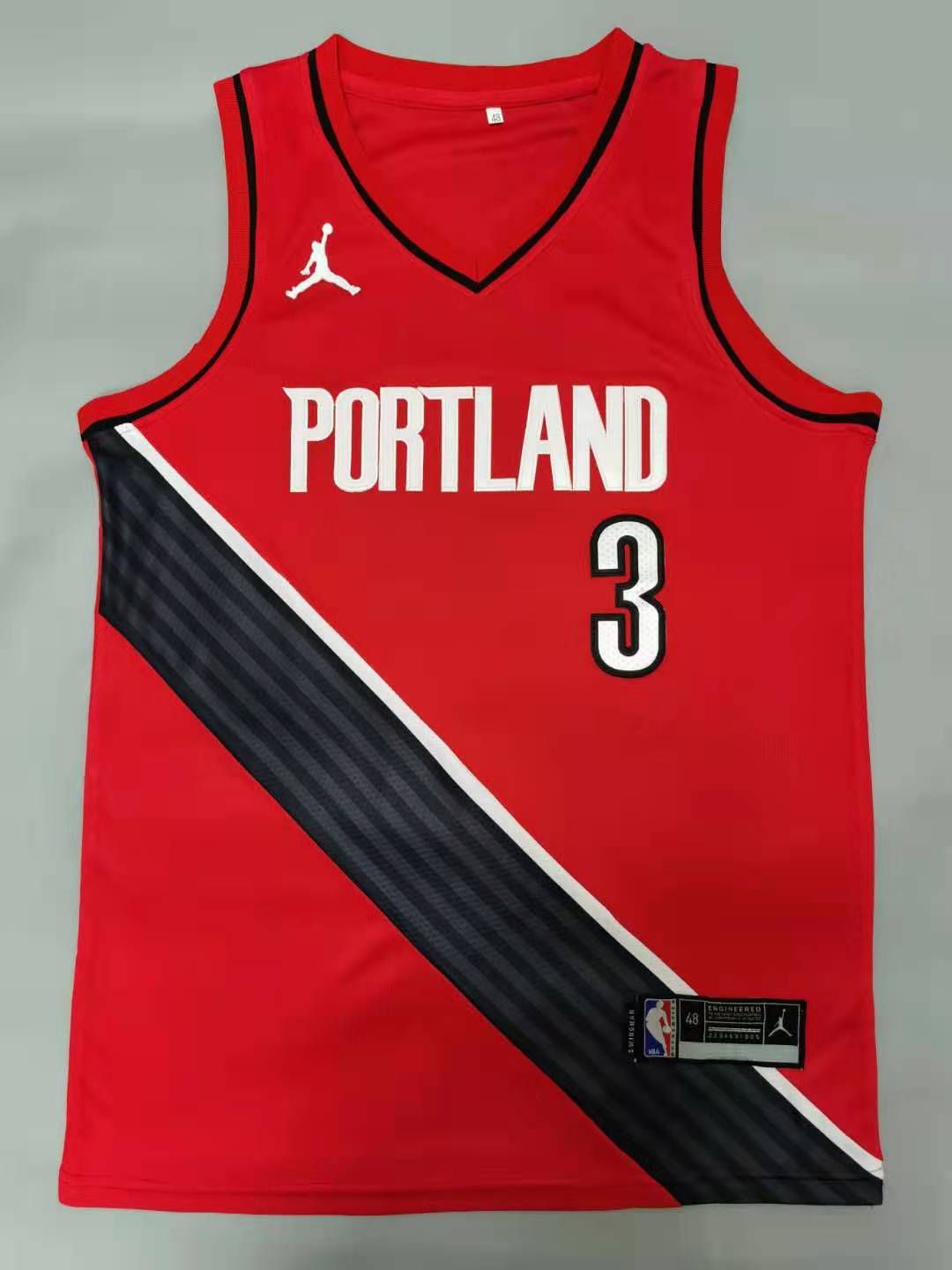 Cheap Men Portland Trail Blazers 3 Mccollum Red 2021 Game NBA Jerseys