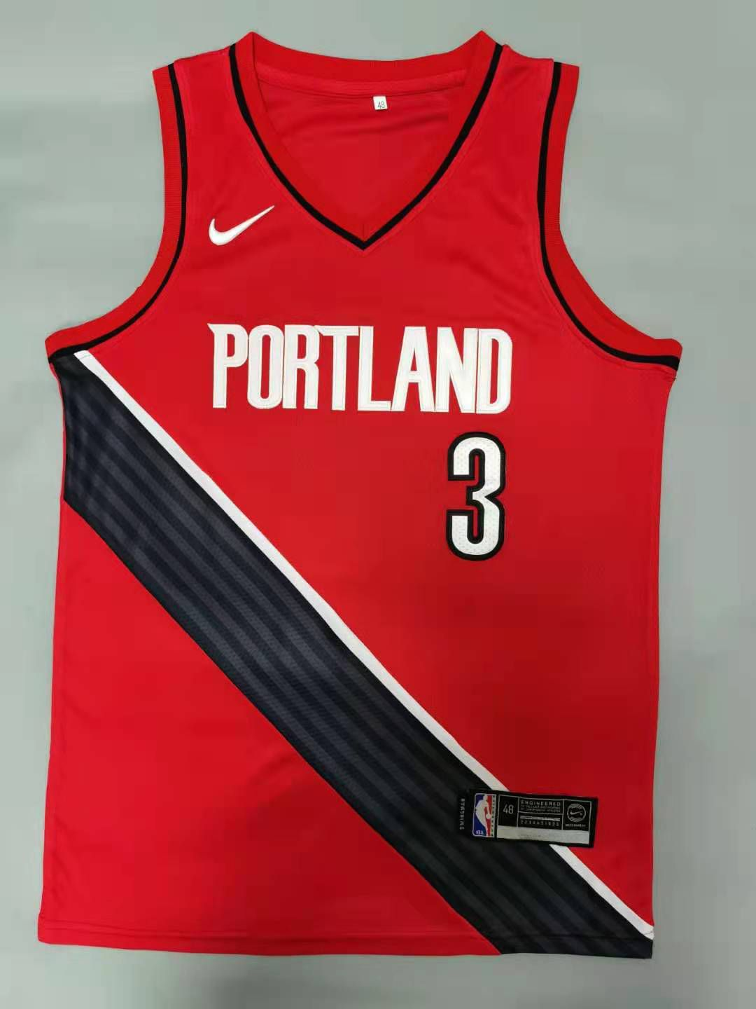 Cheap Men Portland Trail Blazers 3 Mccollum Red 2021 Nike Game NBA Jerseys