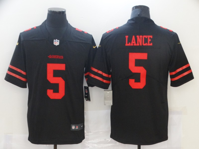 Cheap Men San Francisco 49ers 5 Lance Black Nike Vapor Untouchable Limited 2021 NFL Jersey