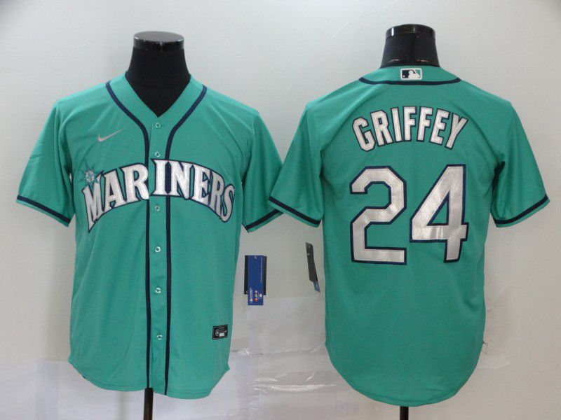 Cheap Men Seattle Mariners 24 Griffey Green Game 2021 Nike MLB Jersey