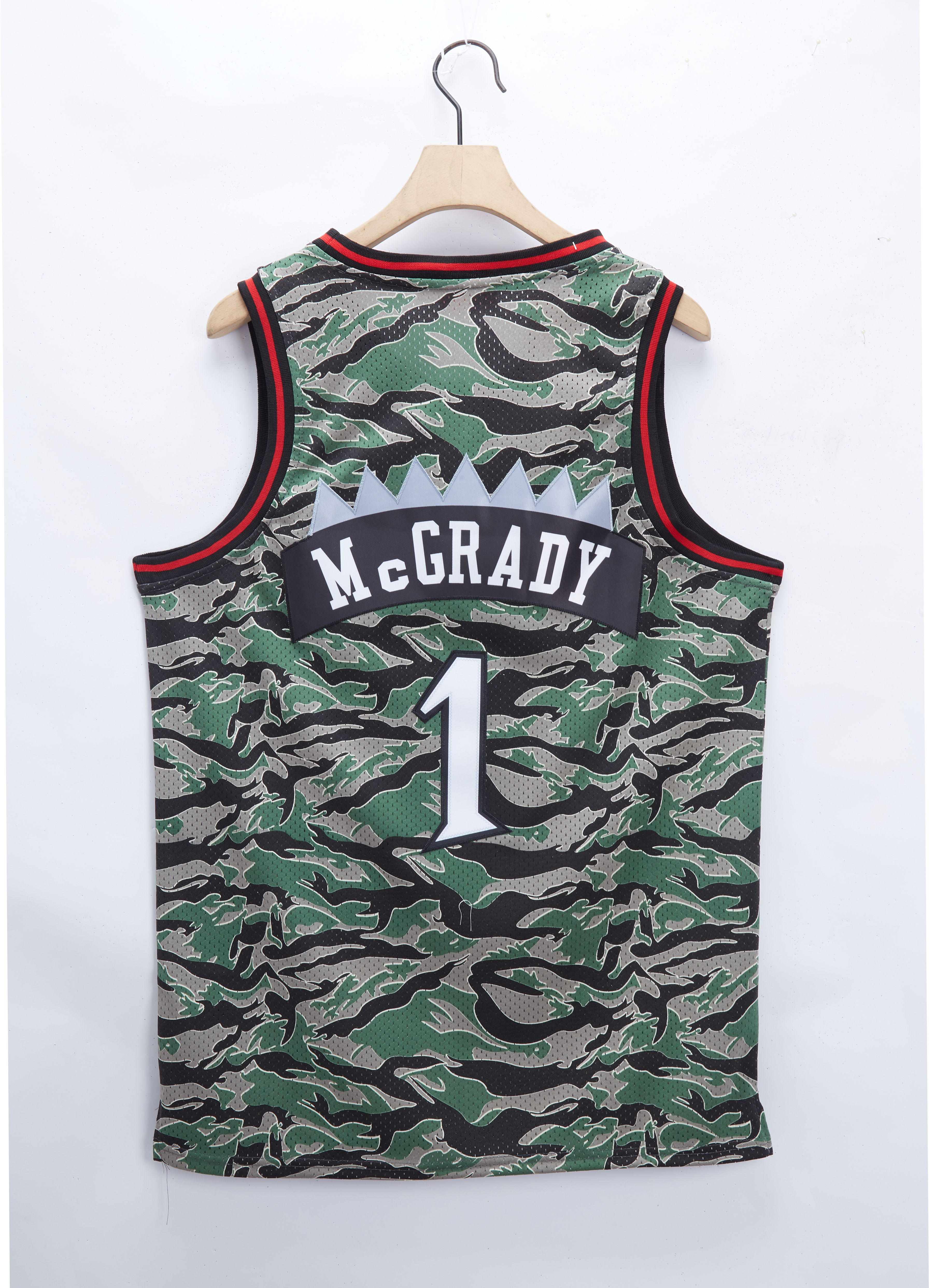 Cheap Men Toronto Raptors 1 Mcgrady Camo 2021 NBA Jersey
