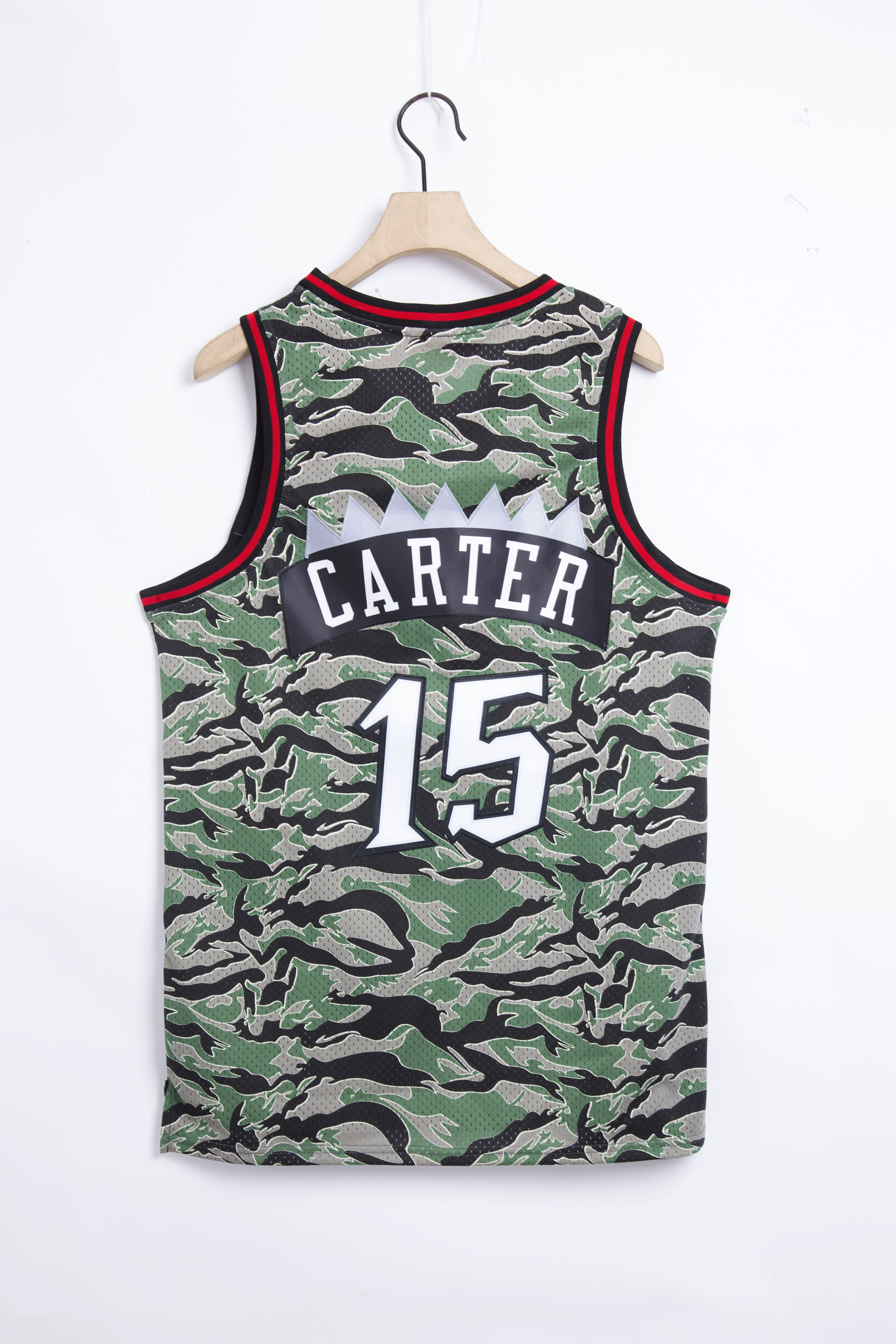 Cheap Men Toronto Raptors 15 Carter Camo 2021 NBA Jersey