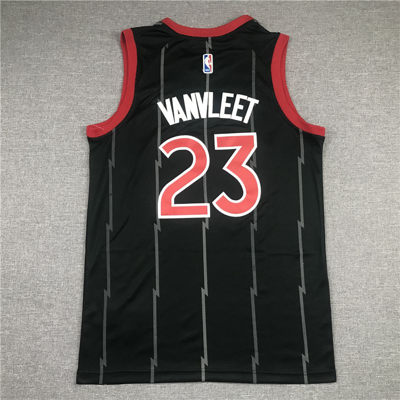 Cheap Men Toronto Raptors 23 Vanvleet Black 2021 Game NBA Jersey