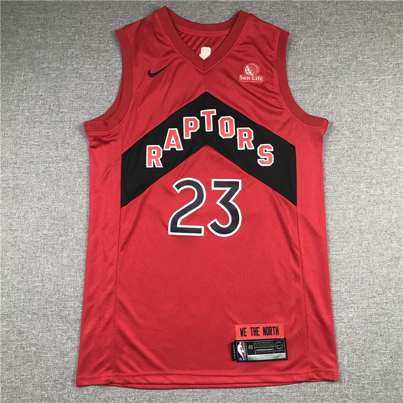 Cheap Men Toronto Raptors 23 Vanvleet Red 2021 Nike Game NBA Jersey