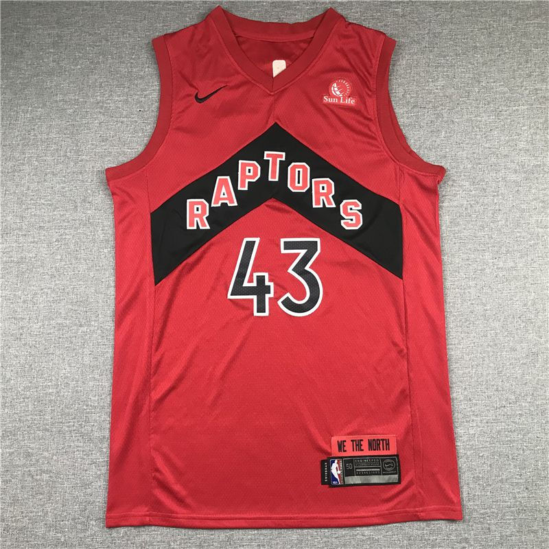 Cheap Men Toronto Raptors 43 Siakam Red 2021 Nike Game NBA Jersey