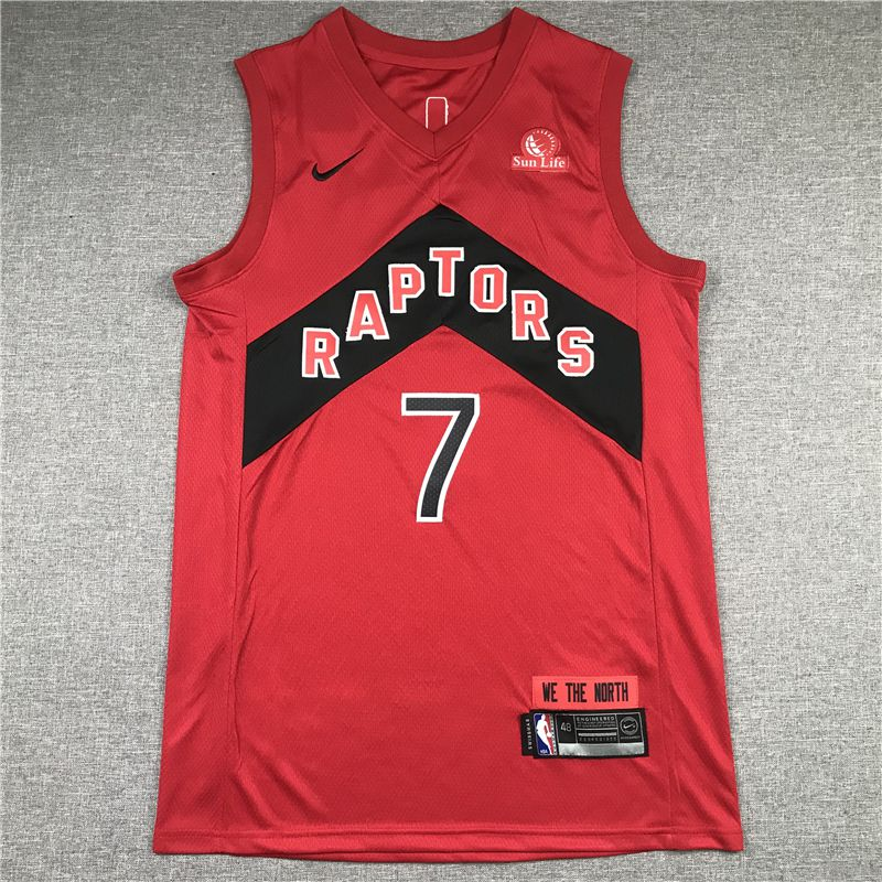 Cheap Men Toronto Raptors 7 Lowry Red 2021 Nike Game NBA Jersey