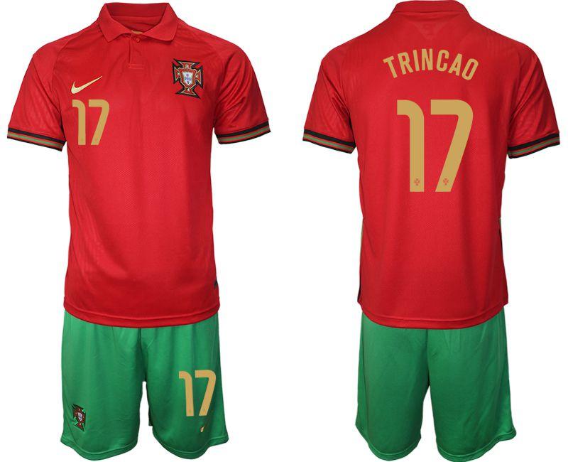 Men 2020-2021 European Cup Portugal home red 17 Nike ...