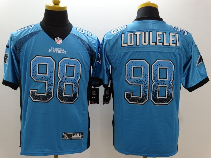 Carolina Panthers 98 Lotulelei Blue Nike Drift Fashion Elite Jerseys