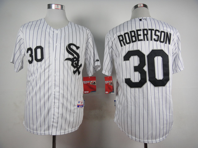 MLB Chicago White Sox 30 David Robertson White 2015 Jerseys